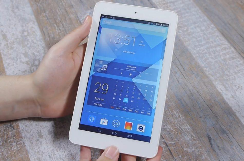 Дизайн планшета Alcatel One Touch POP 7S
