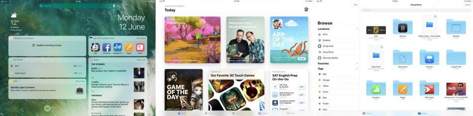 Интерфейс у Apple iPad Pro 10.5