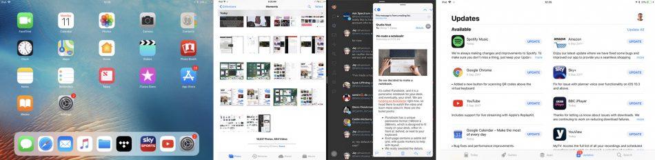 Интерфейс на Apple iPad Pro 12.9 (2017)