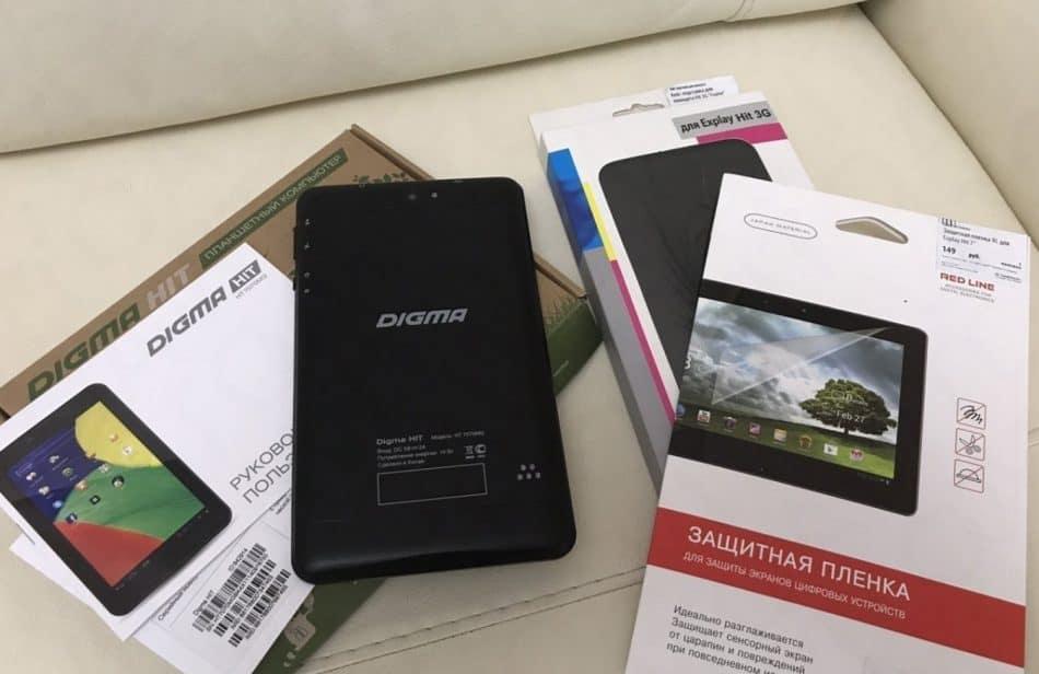 Комплектация Digma Hit 7 3G