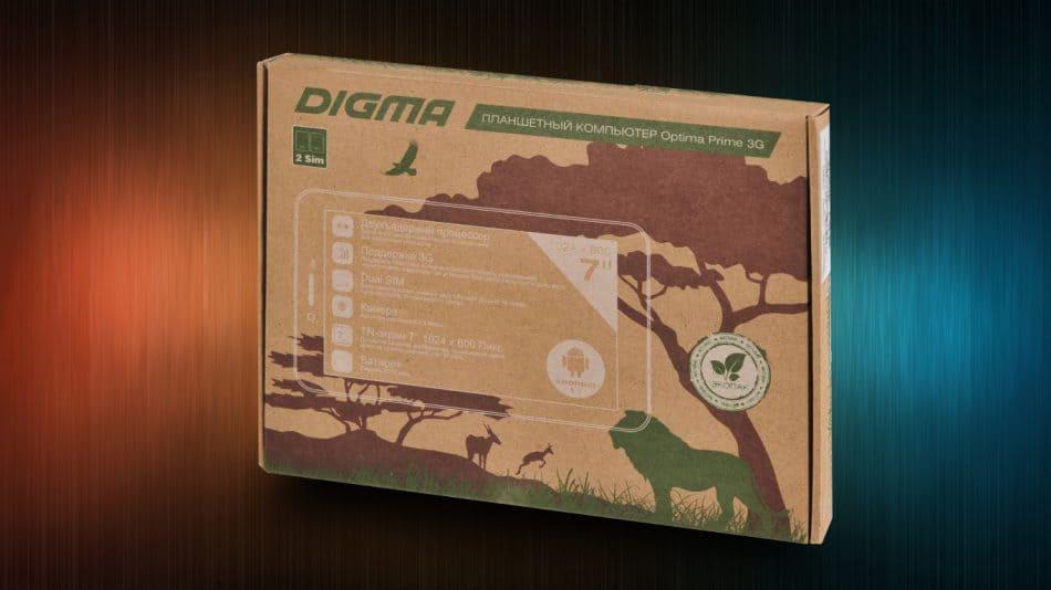 Упаковка планшета Digma Optima Prime 3G