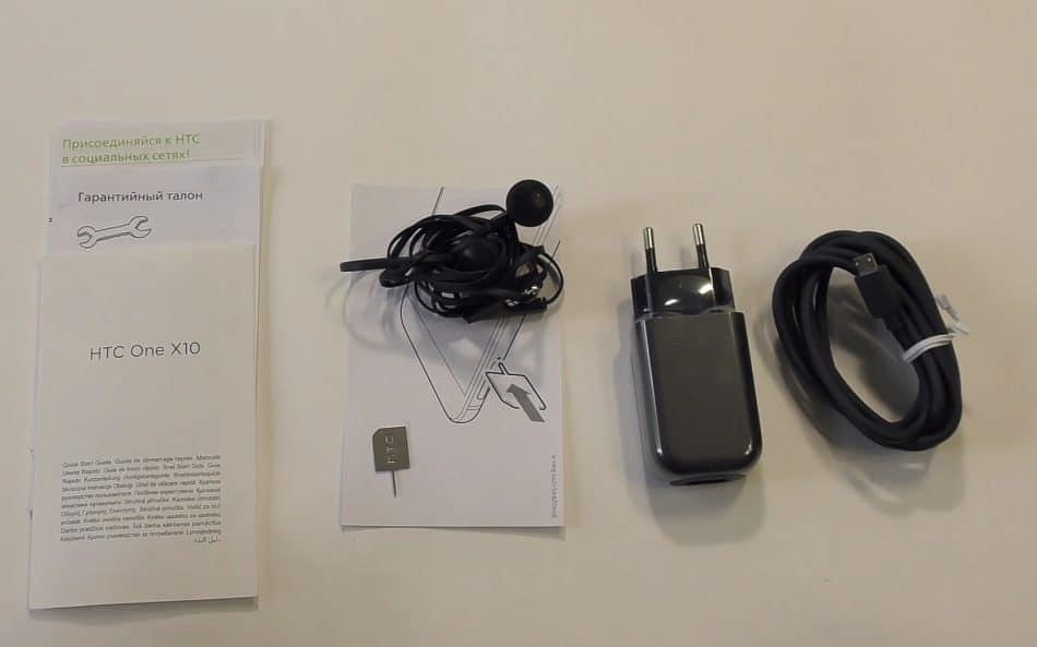 Комплектация смартфона HTC One X10