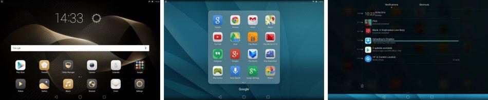 Интерфейс Huawei MediaPad M2 10