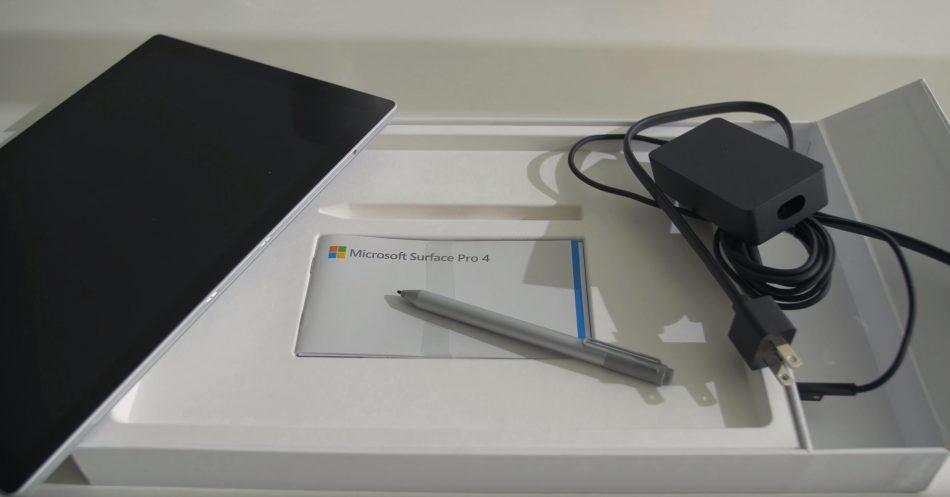 Комплектация планшета Microsoft Surface Pro 4