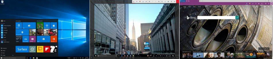 Интерфейс Microsoft Surface Pro 4