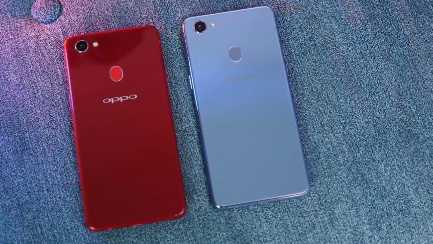 Вид сзади смартфона OPPO F7