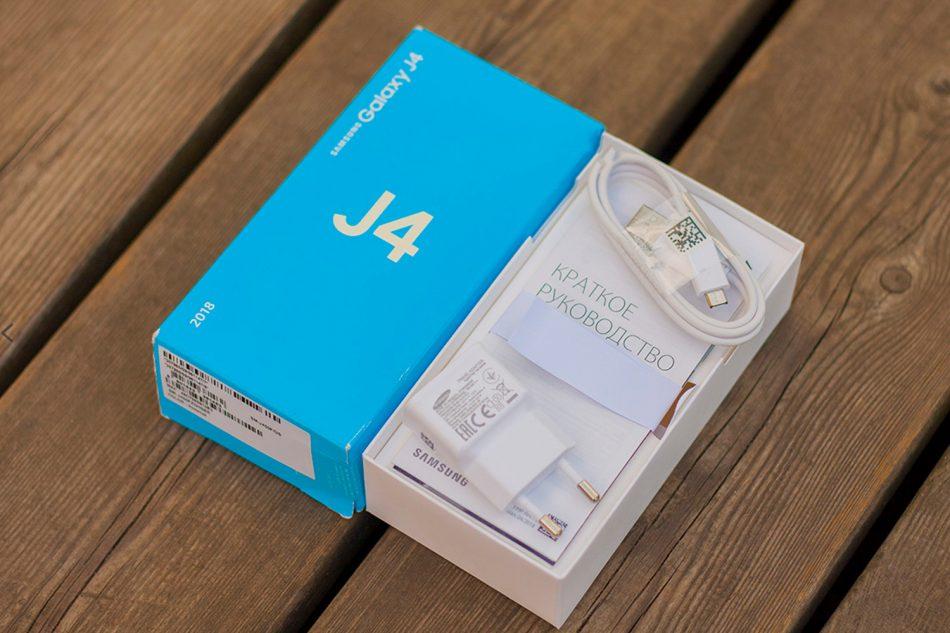 Комплектность смартфона Samsung Galaxy J4