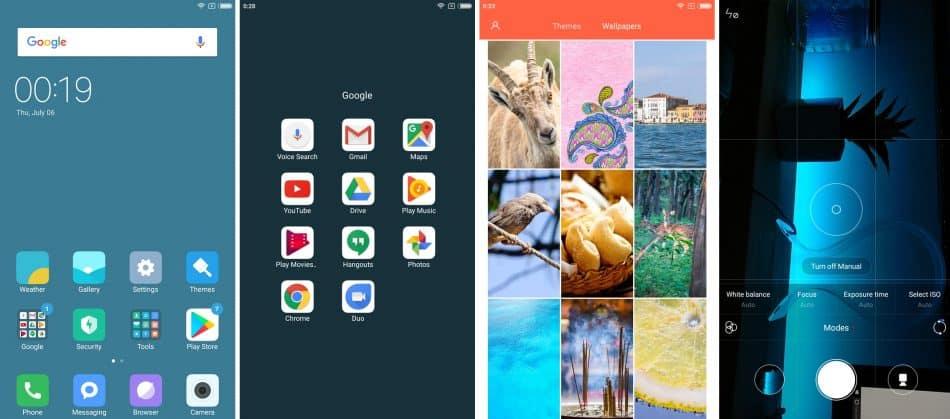 Интерфейс фаблета Xiaomi Mi Max 2