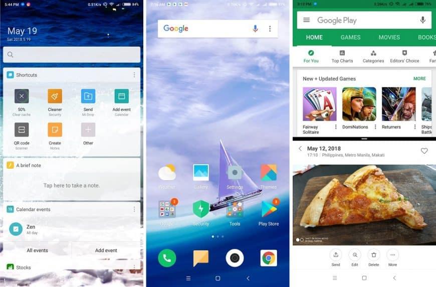 Интерфейс Xiaomi Redmi Note 5