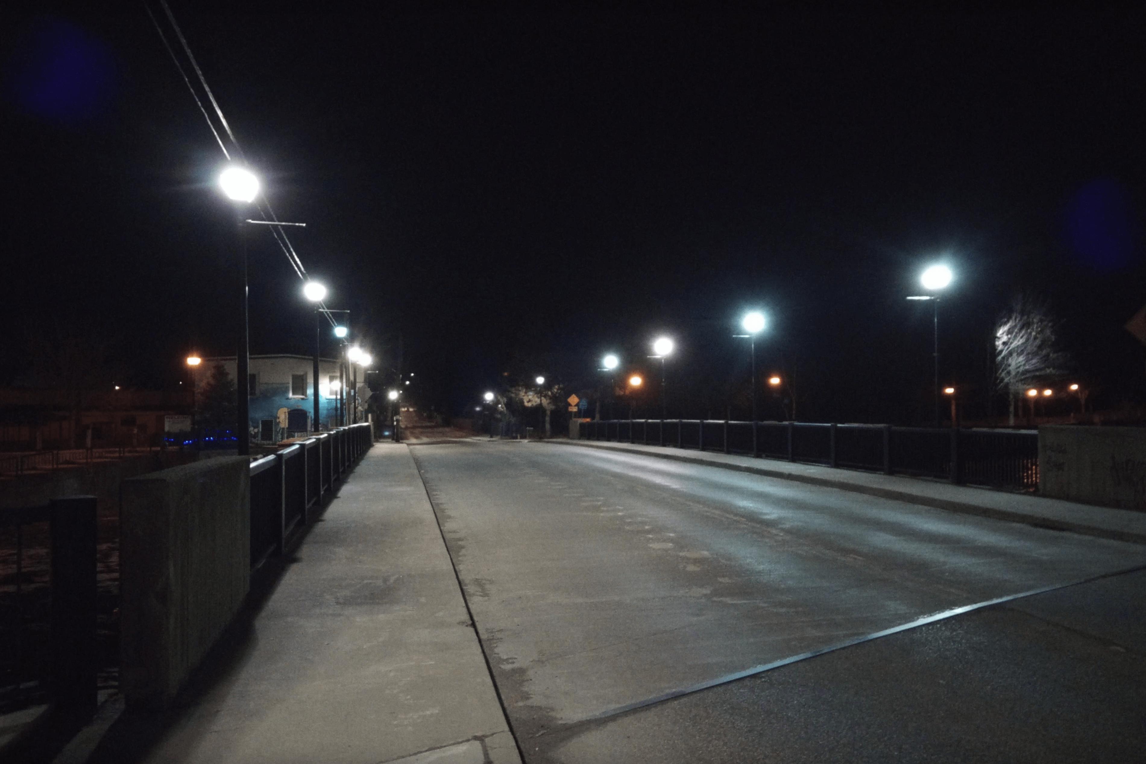Ночной снимок на Ulefone Power 3s