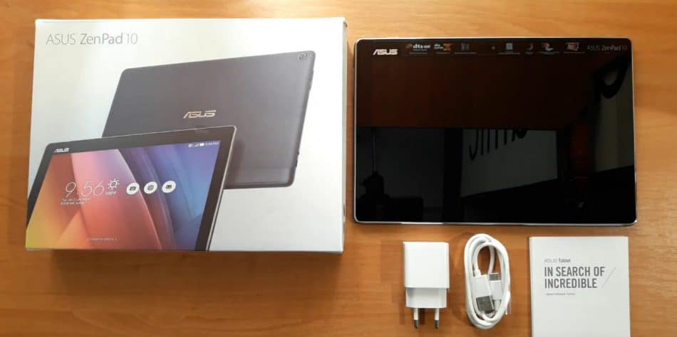 Комплектация ASUS ZenPad 10 Z301ML