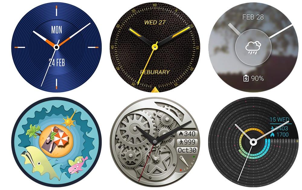 Варианты циферблатов часов Asus ZenWatch 3