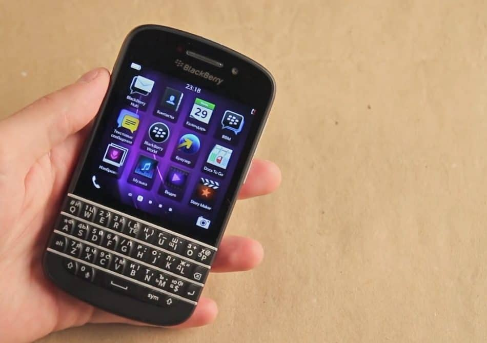 Экран Blackberry Q10