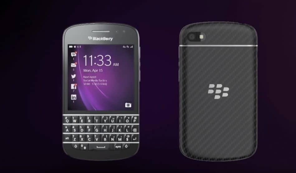 Дизайн Blackberry Q10