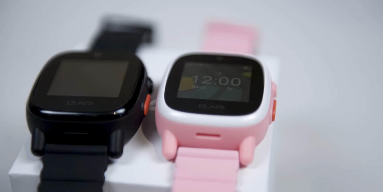 Чёрные и розовые часы
