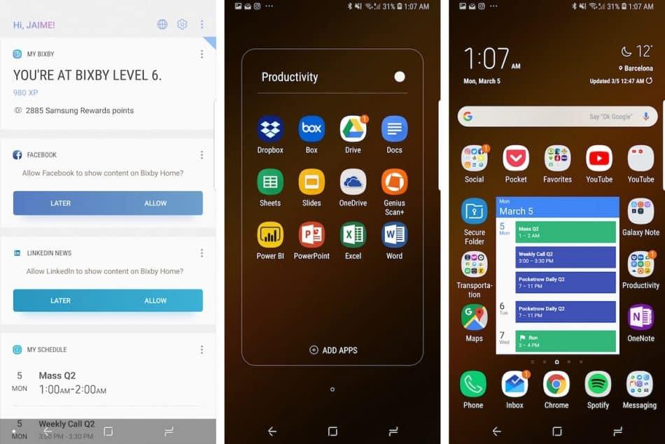 Операционная система Samsung Galaxy S9+