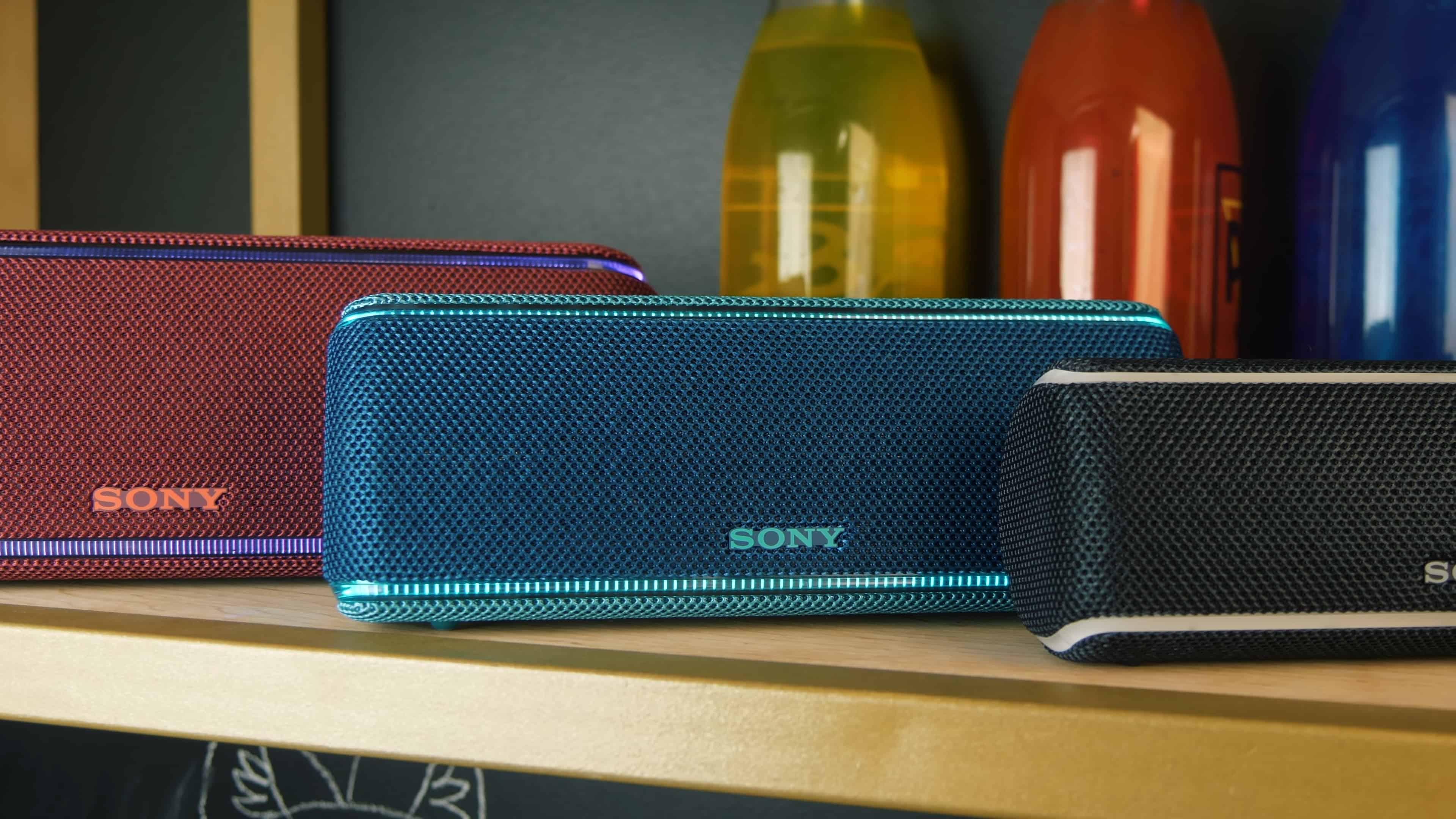 Широкая цветовая гамма корпусов Sony SRS-XB41