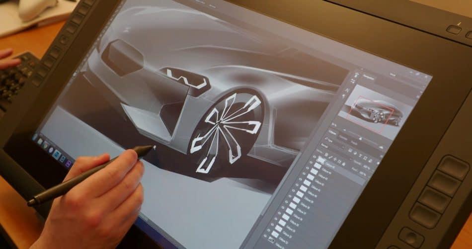 Рабочая поверхность графического планшета