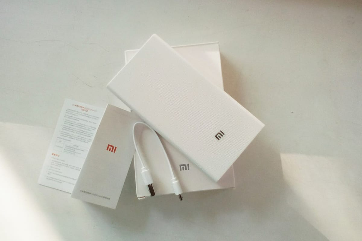Комплект поставки Xiaomi Mi Power Bank 20000