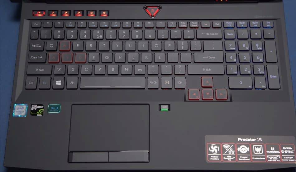 Клавиатура Acer Predator 15 (G9-593)