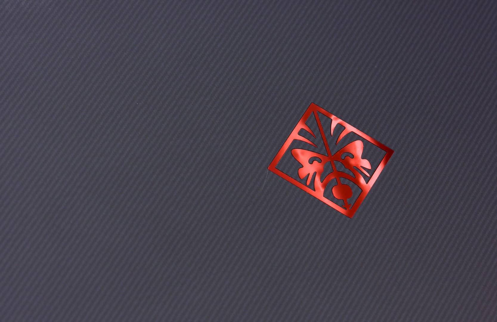 Логотип на крышке ноутбука
