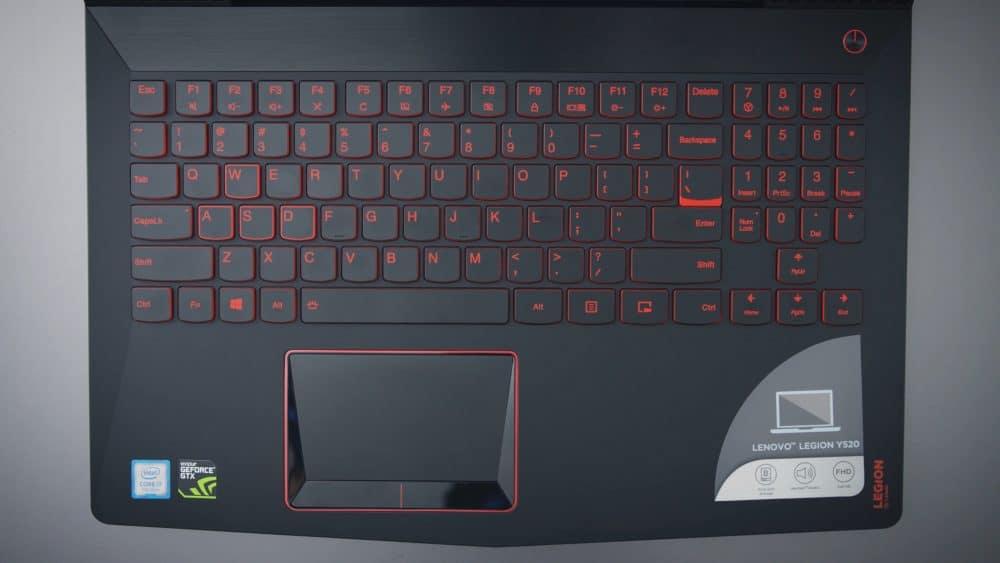 Клавиатура у Lenovo Legion Y520