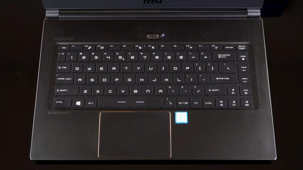Клавиатура и тачпад у MSI GS65 Stealth Thin