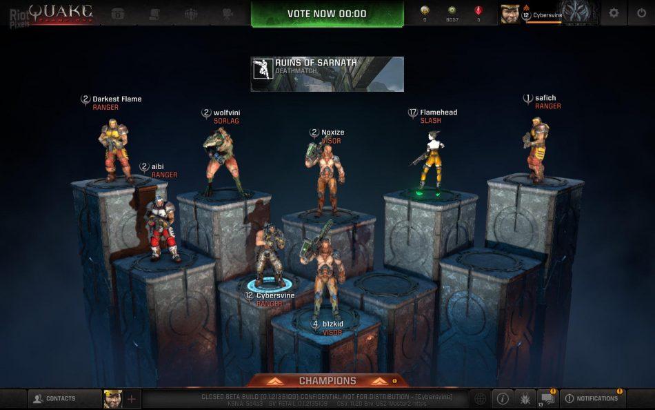 Игроки Quake Champions