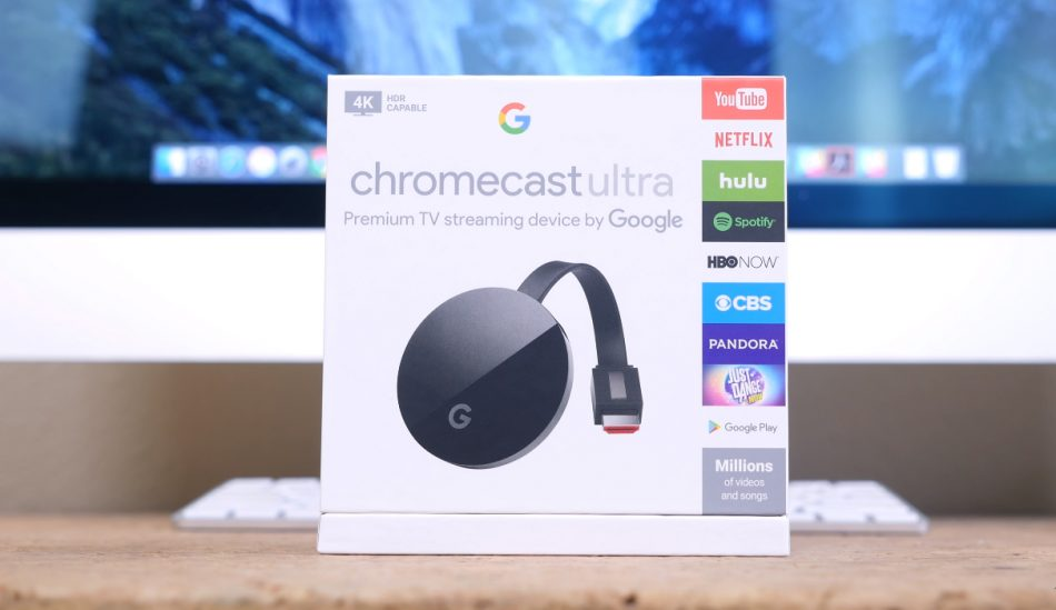 Упаковка Google Chromecast Ultra