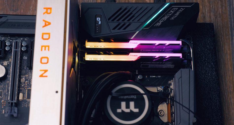 Работа Radeon RX Vega 64