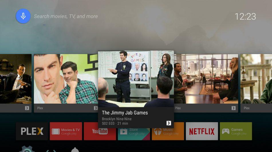 Интерфейс Android TV