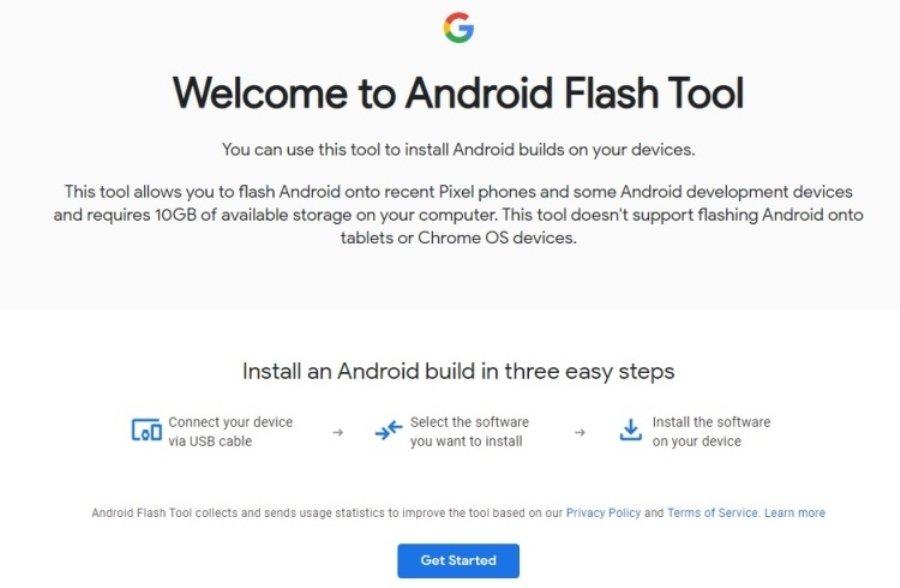 Сервис Android Flash Tool