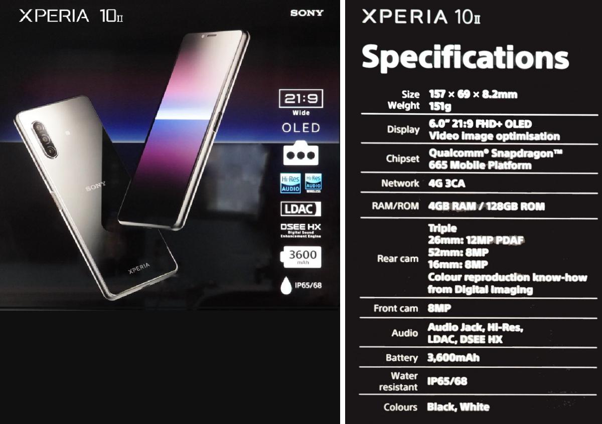 Характеристики Sony Xperia 10 II