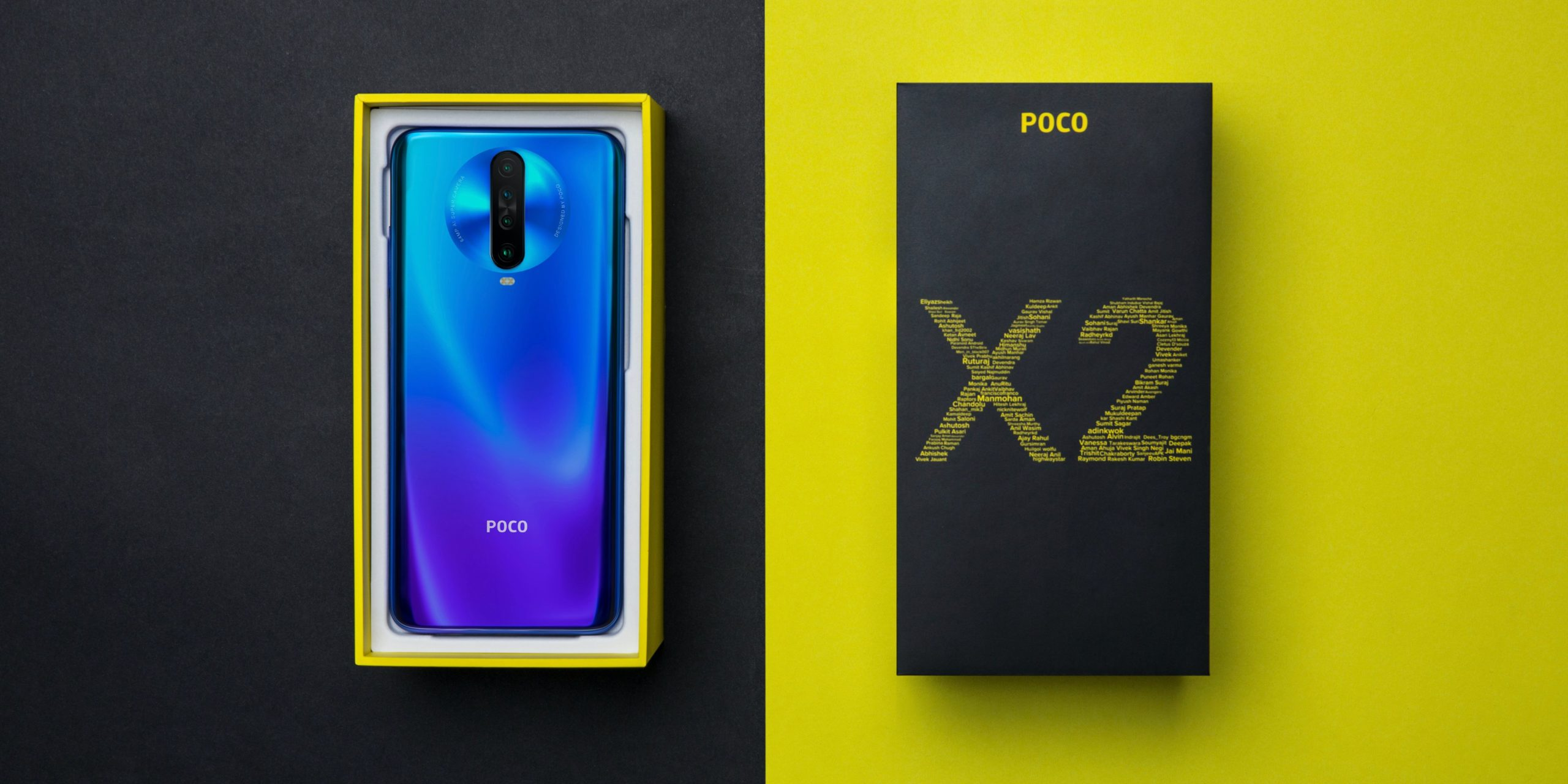 Внешний вид Poco X2