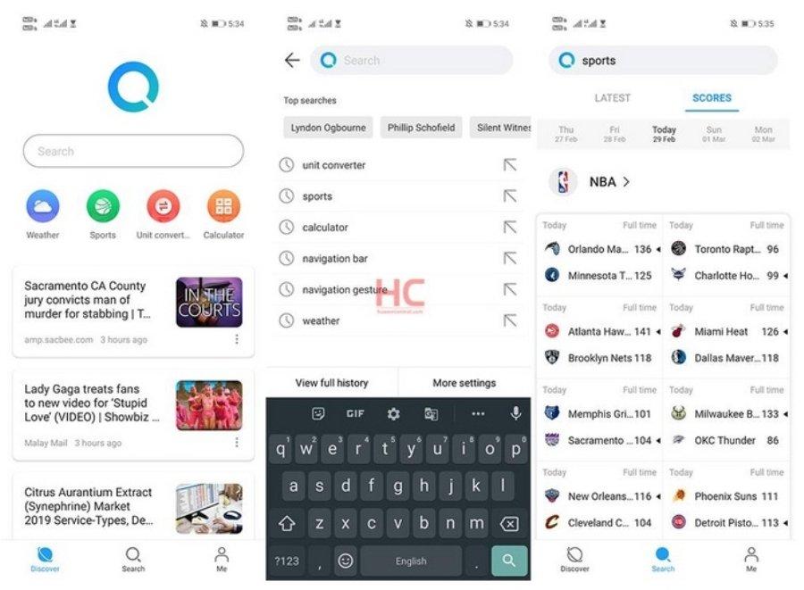 Тест сервиса Huawei Search