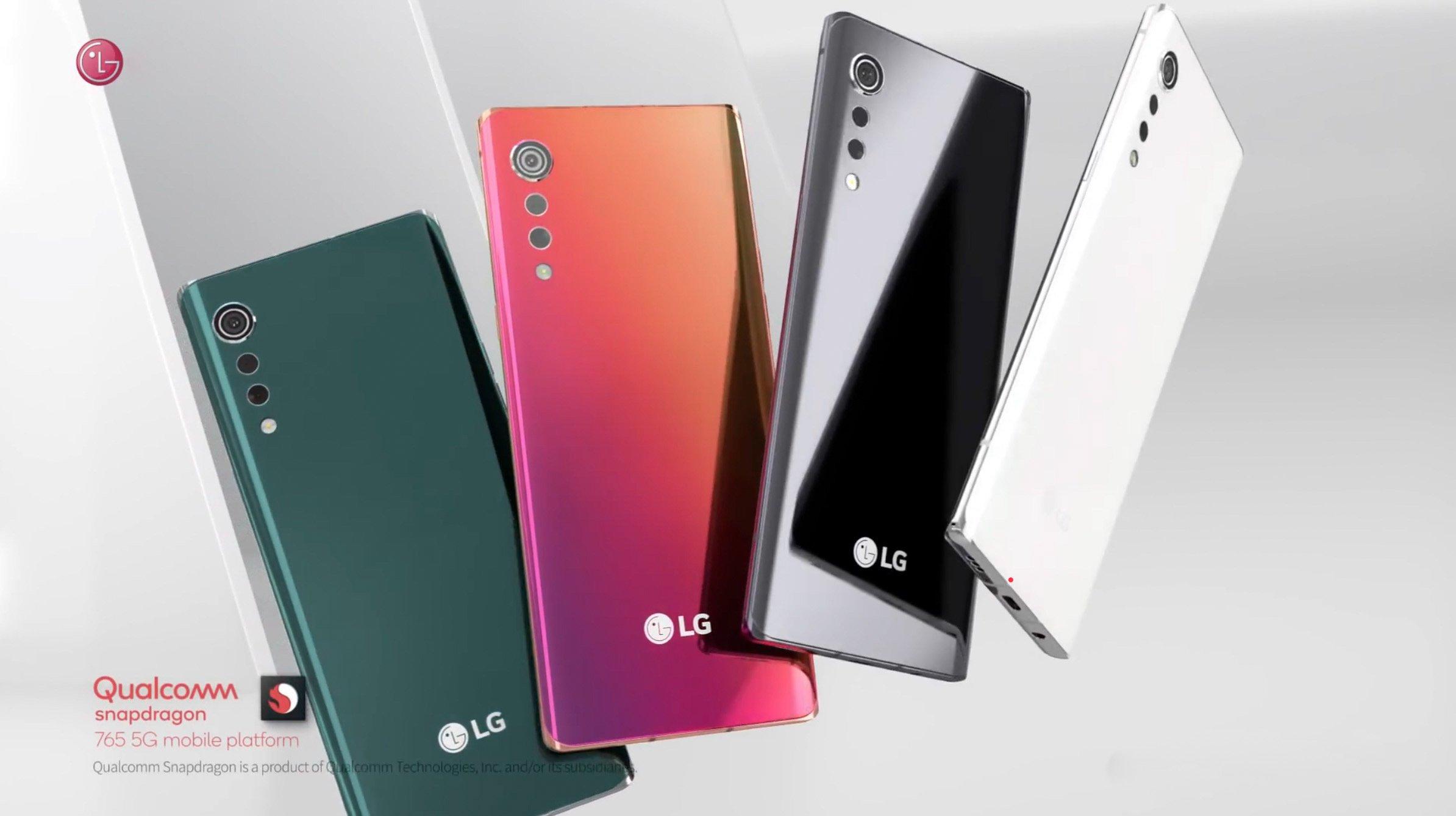 Внешний вид LG Velvet