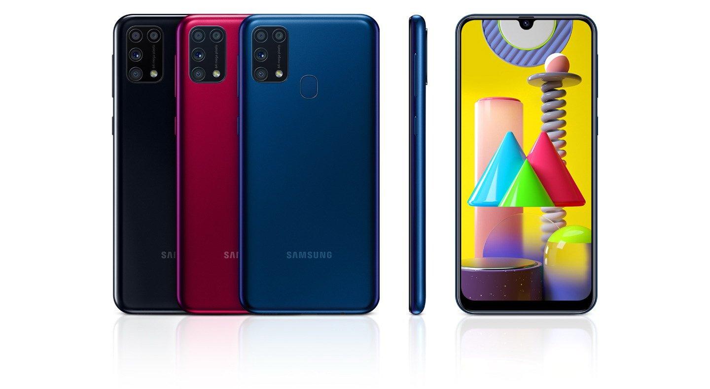Палитра цветов Samsung Galaxy М31