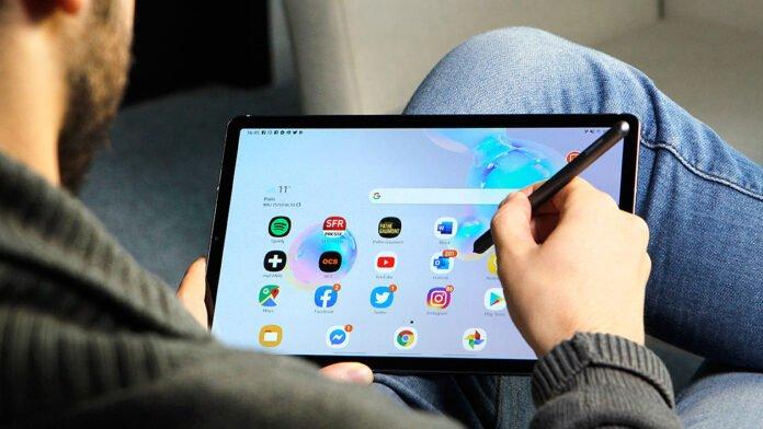 Galaxy Tab S7 в руках