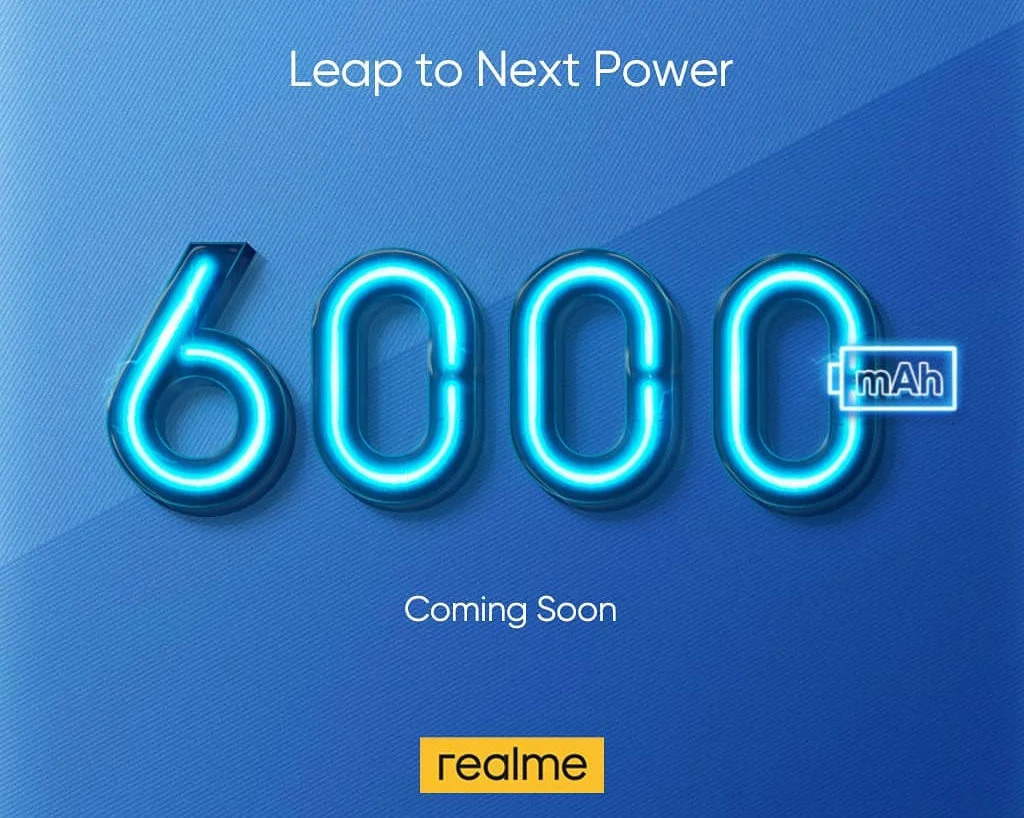 6000 мАч от Realme
