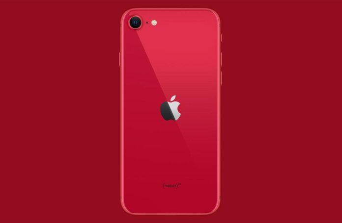 iPhone SE 2020 в красном цвете