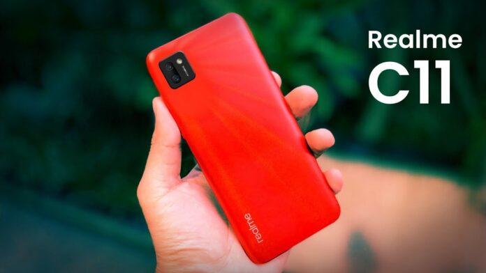 Realme C11 в красном цвете