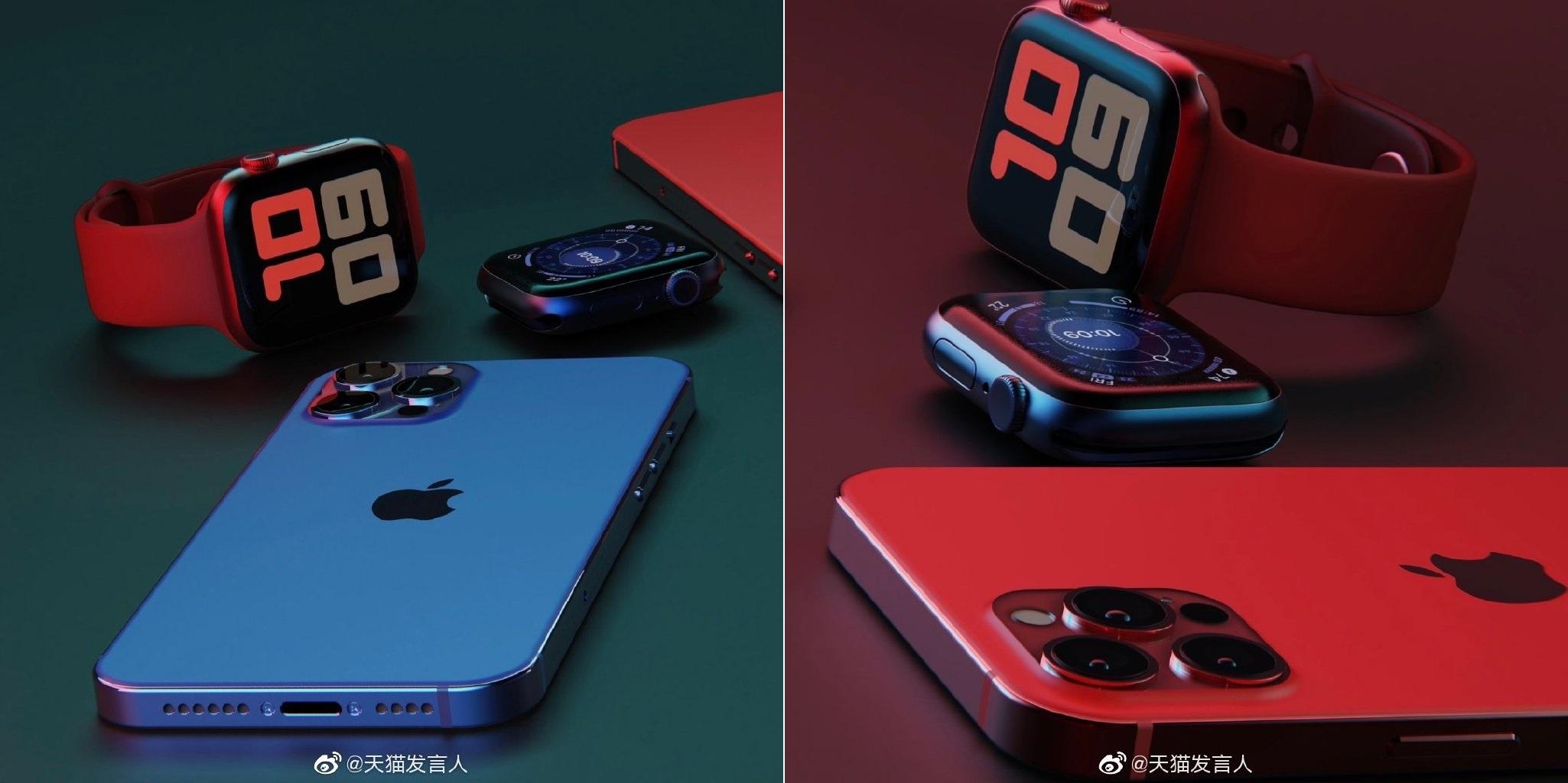 Варианты расцветки iPhone 12