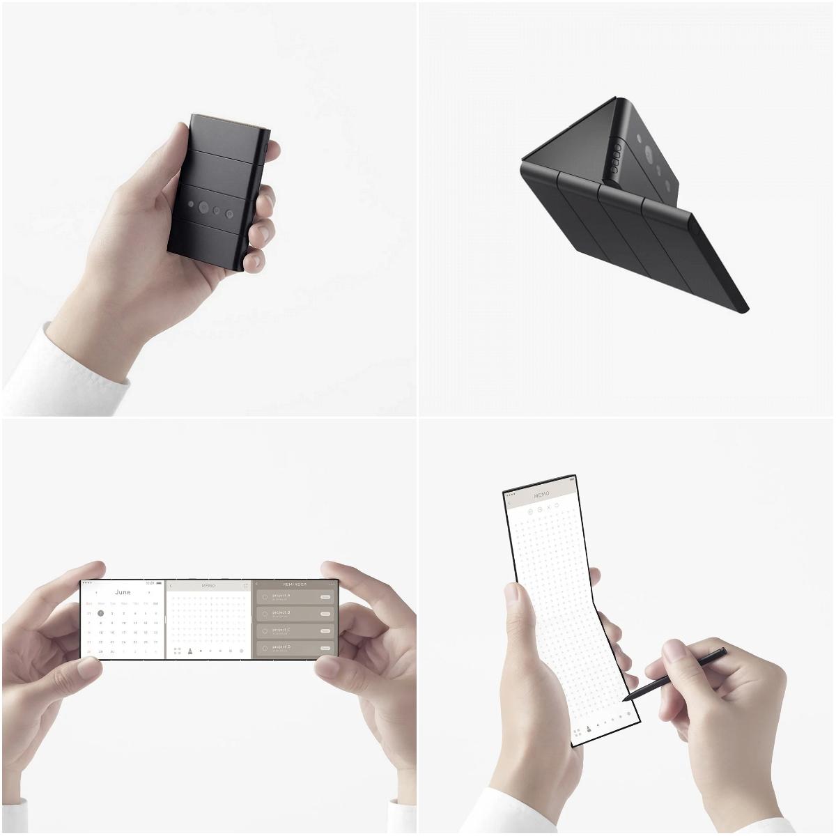 Слайдфон Oppo в разных ракурсах
