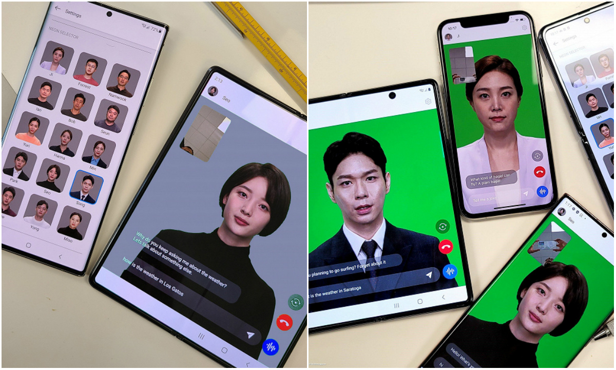 Смартфоны iPhone и Samsung с «искусственным человеком» Neon