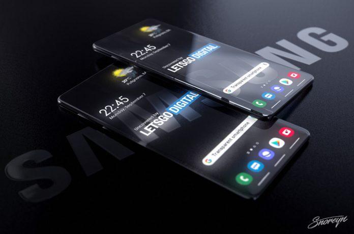 Samsung готовит прозрачный смартфон