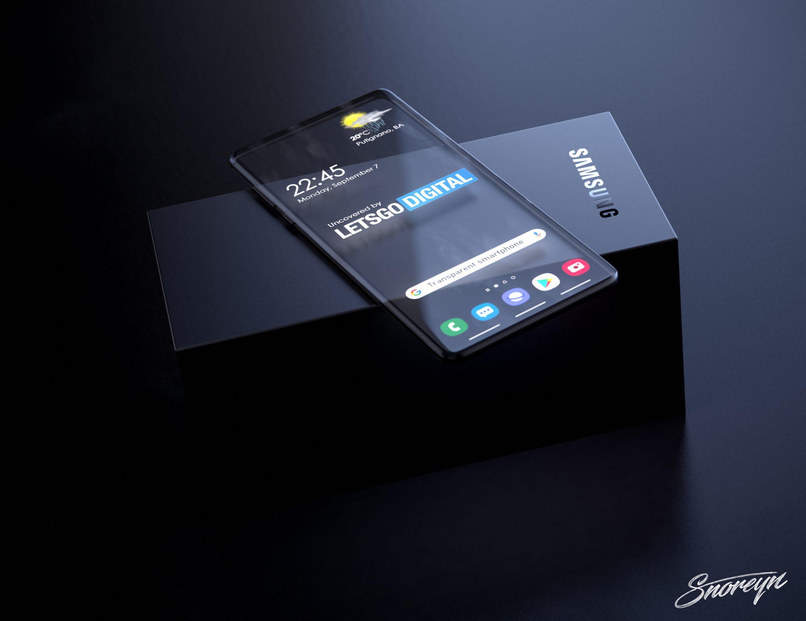 Прозрачный смартфон от Samsung