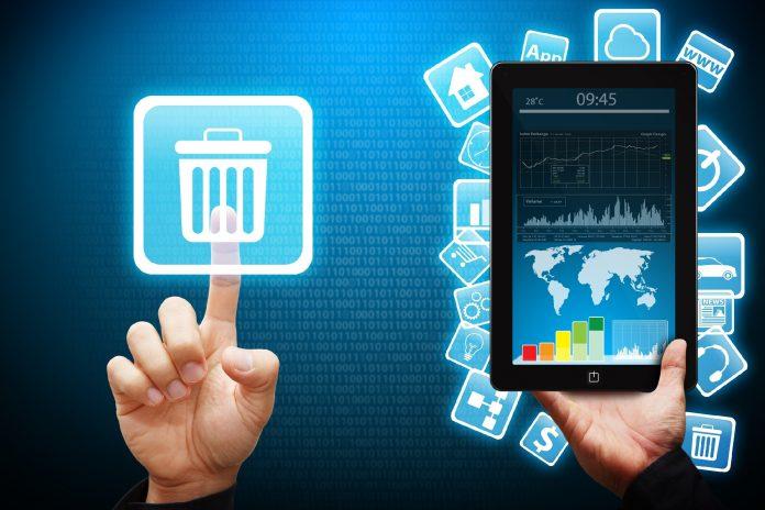 Удаление мобильных приложения