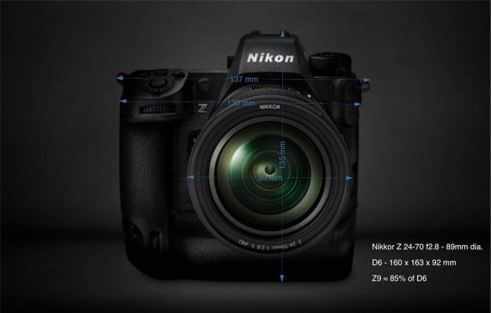 Nikon Z9: вид спереди